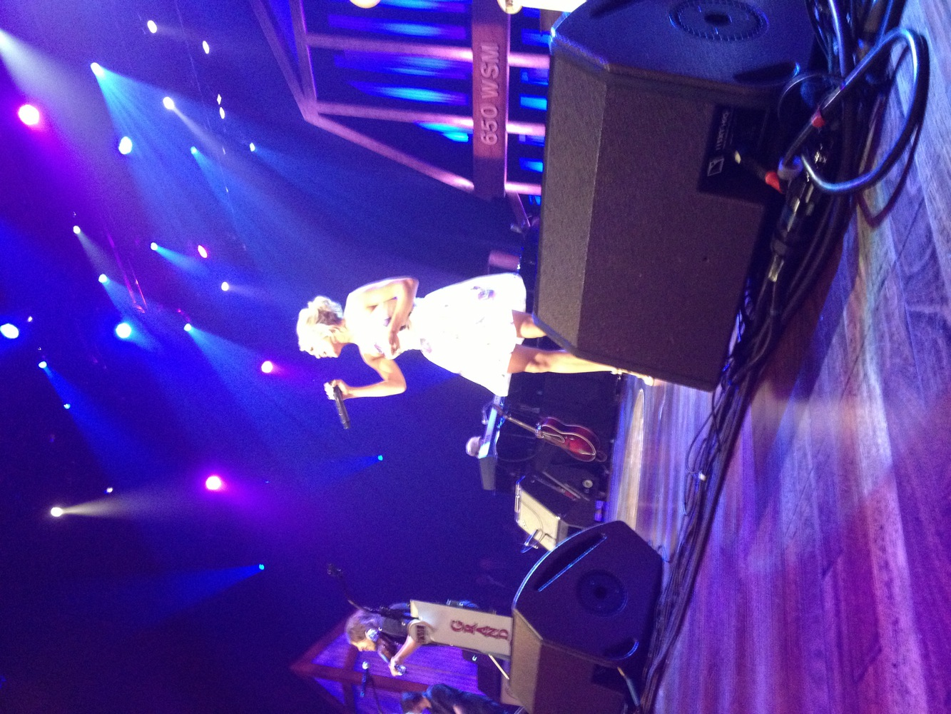 Carrie at the Opry in June of 2013! She even waved to me like 3 times which is awesome!