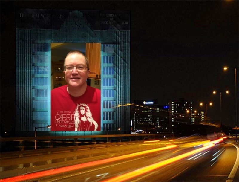 My pic in Times Square in Carrie fan club shirt