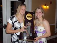 Sarah and I with the National Championship Trophy!
