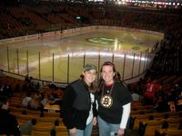 me and Kelly at the Sens game supporting MIKE