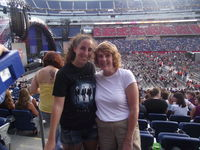 For Christmas I got my mom tickets to see Bon Jovi, here we are at the concert!