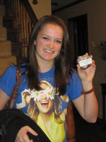 Me on March 10th with the cookies I brought to school to celebrate Carrie's 28th!