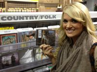 Carrie buying Blown Away!! AMAZING!! She's SO PRETTY, even when shes not on stage! LOVE YOU CARRIE! XOXO :)