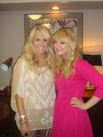 With Carrie before her very first UK show :)