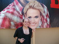 Minnesota State Fair: Not exactly a meet & greet, but I got a picture with Carrie Underwood on a stick.