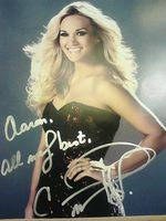 Carrie Underwood autographed this for me during my Meet & Greet in Sioux City, IA