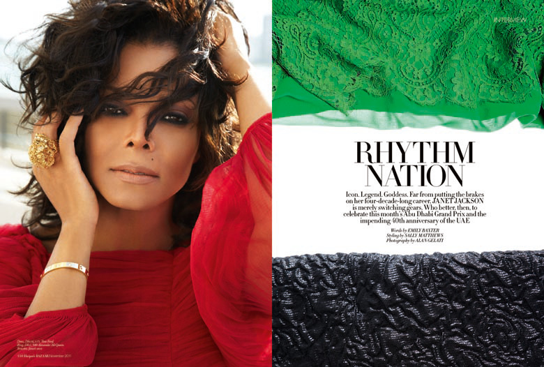 Janet featured in November issue of Harper's Bazaar Arabia