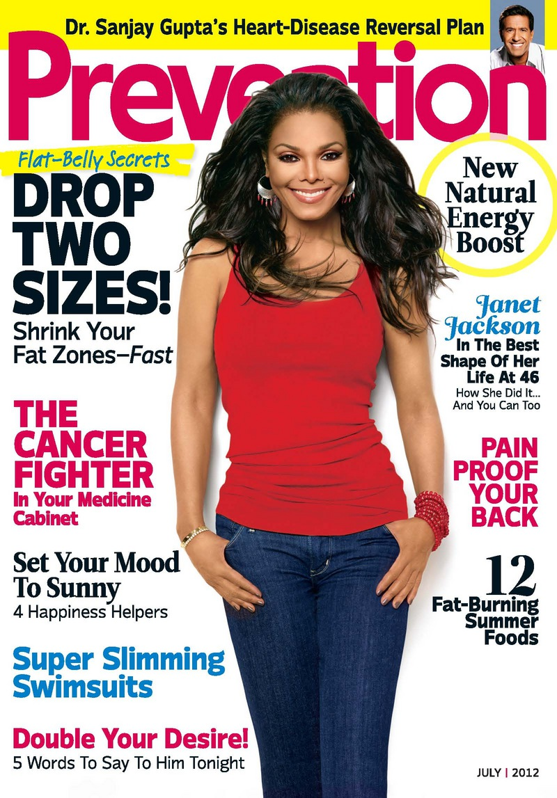 Janet Jackson talks body image, Nutrisystem in July's 'Prevention' magazine