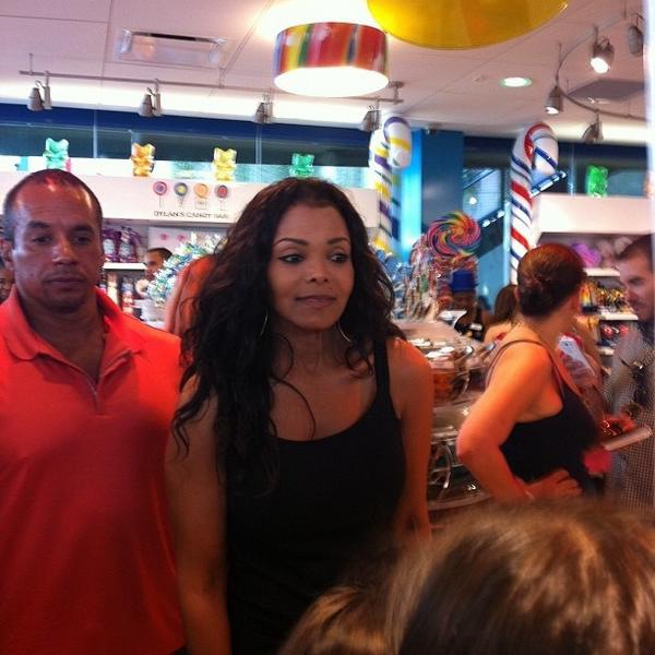 Janet Jackson Causes A Paparazzi Frenzy At Dylan's Candy Bar Grand Opening