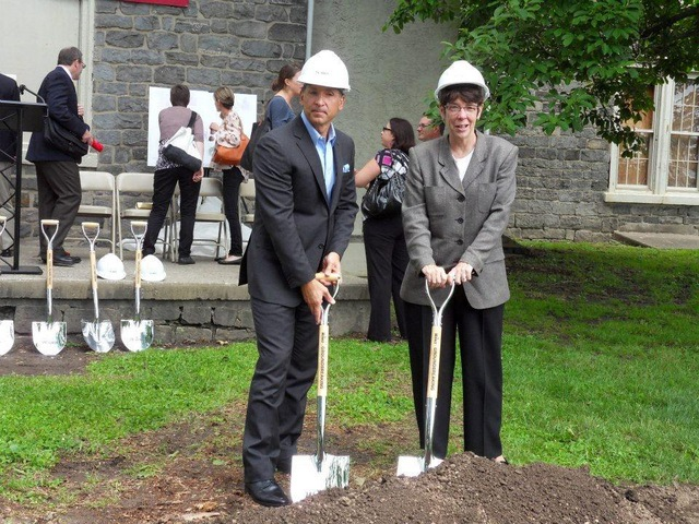 Craig Spencer & Sister Mary Scullion at Northern Children's Services Merrick Hall Groundbreaking