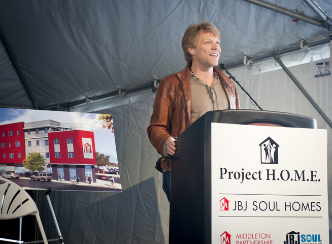 Jon Bon Jovi Speaking at the Groundbreaking Ceremony for JBJ Soul Homes in Philadelphia, PA