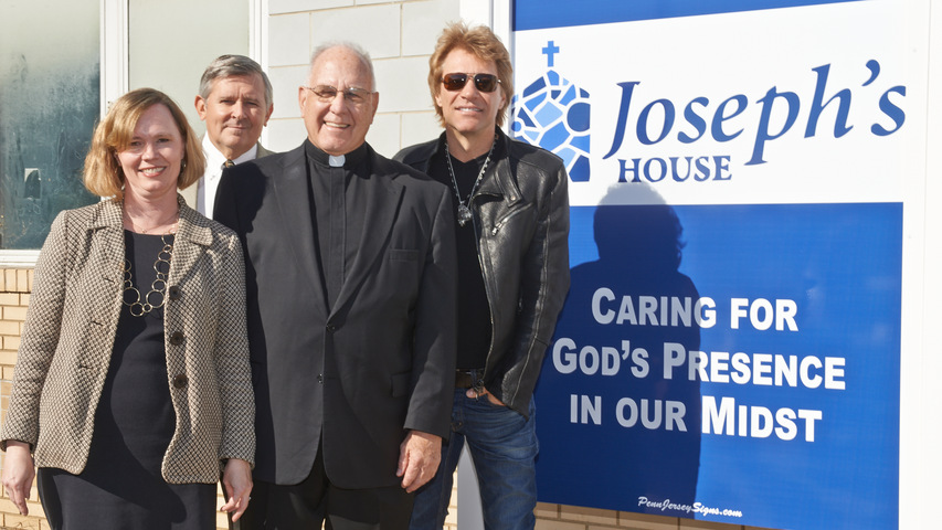 Jon Bon Jovi Visits Future Home of Joseph's House in Camden