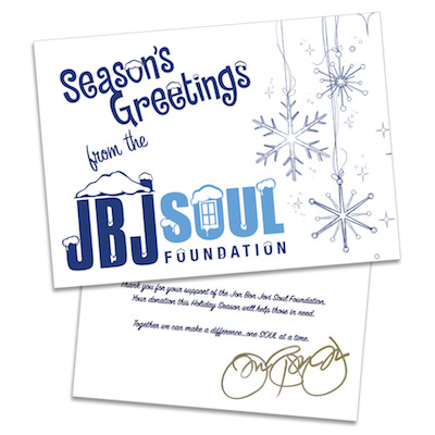 Happy Holidays from the Jon Bon Jovi Soul Foundation!