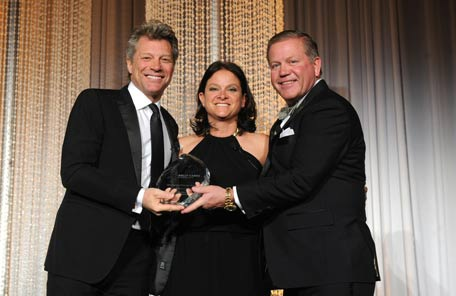 Notre Dame Coach Brian Kelly & His Wife Paqui of The Kelly Cares Foundation Honored the Jon Bon Jovi Soul Foundation at the Irish Eyes Gala