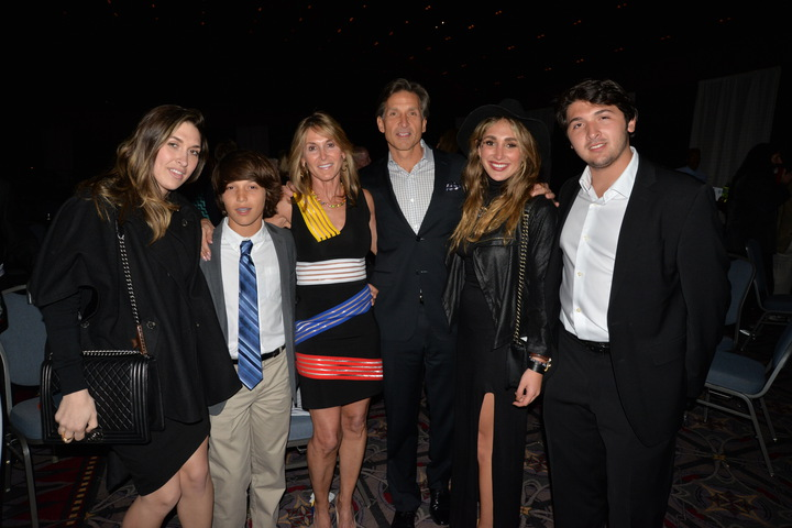 Craig Spencer, Honoree of the Evening, with his family at the Covenant House Night of Broadway Stars Event