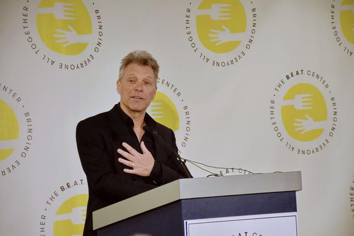 Jon Bon Jovi Speaking at The B.E.A.T. Center Announcement Event