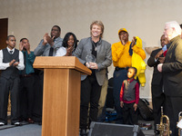 Jon Bon Jovi accepting the Small Things With Great Love Award for the Foundation's work in Camden