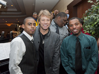 Jon Bon Jovi with Dante Spain and Djvonn Brown from Hopeworks N' Camden
