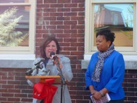 Helene Pierson and Mayor Redd at the Ribbon Cutting for Heart of Camden