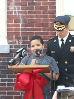 Jorge Speaking at the Ribbon Cutting for Heart of Camden