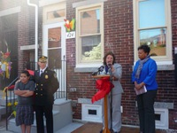 Jorge, Chief Thompson, Helene Pierson and Mayor Redd at the Ribbon Cutting for Heart of Camden