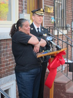 New Homeowner Manuela Overcome with Emotion at the Heart of Camden Ribbon Cutting