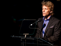 Jon Bon Jovi Accepting the Beacon of Hope Award