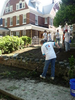 Day 2: Volunteers Help with Landscaping