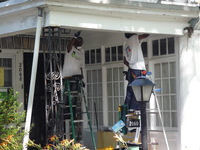 Day 2: Volunteers Help Fix Up a Front Porch