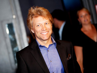 Jon Bon Jovi Arriving at Covenant House's A Night of Broadway Stars Event