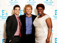 Jon Bon Jovi with Broadway Stars Jeremy Jordan and Capathia Jenkins