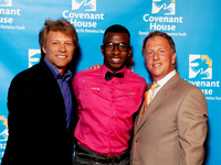 Jon Bon Jovi & Leo Carlin with Julius, a Covenant House youth who was recently accepted to the U.S. Naval Academy Choir