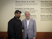 Chef Terrence and President Bill Clinton