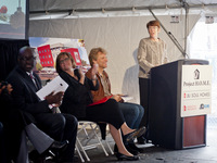 Sister Mary Scullion Speaking at the JBJ Soul Homes Groundbreaking Ceremony in Philadelphia, PA