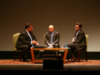 Governor Chris Christie, Tom Colicchio, and Willie Geist at the Soul of Hunger Event