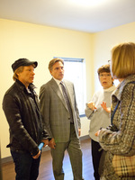 JBJSF Board Members Jon Bon Jovi, Steve Perna, Sister Mary Scullion & Mimi Box touring JBJ Soul Homes