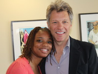 Jon Bon Jovi meets with the youth who have moved in to JBJ Soul Homes