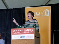Sister Mary Scullion at the JBJ Soul Homes Grand Opening
