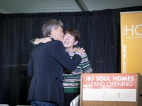 Sister Mary Scullion & Jon Bon Jovi at the JBJ Soul Homes Grand Opening
