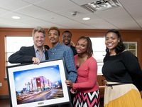 Jon Bon Jovi & some of the new residents of JBJ Soul Homes