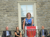 JBJSF Executive Director, Mimi Box, Speaking at Merrick Hall Grand Opening Celebration