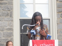 Brittany, One of the First Residents-To-Be of Merrick Hall, Gave an Emotional Speech of Thanks