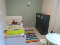 A child's room in one of the apartments in Merrick Hall