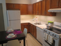 The Kitchen in one of the Apartments in Merrick Hall