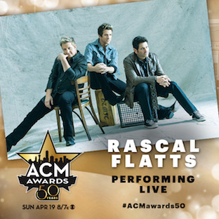 RF performing at ACM Awards