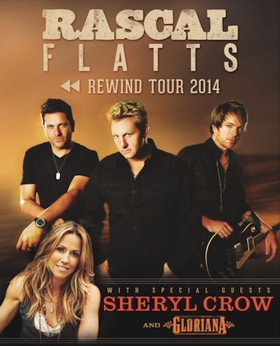 RASCAL FLATTS REVEAL DETAILS FOR THEIR REWIND TOUR 2014